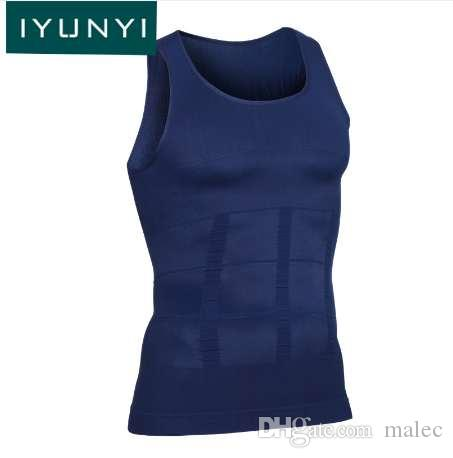 IYUNYI Men compression boobs undershirt slimer body shaping tops strong man gynecomastia Slimming Shaper