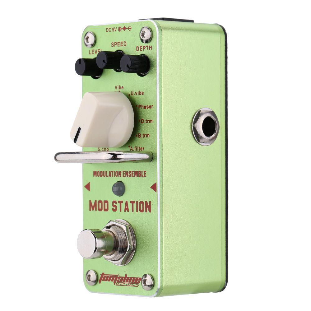 AROMA AMS-3 TUBOS Conjunto Estación de Modulación Eléctrica Gitar Pedal Efectos Mod Mini Efecto Basit Con Gerçek Bypass Guitarra Bölümleri