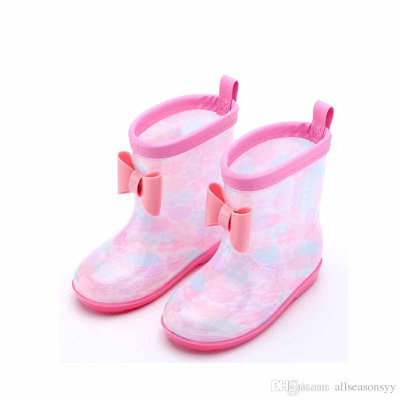 Summer Children Wellington Yellow Booties Baby Girl Blue Rain Boot Boy Kid Brand Waterproof Shoe