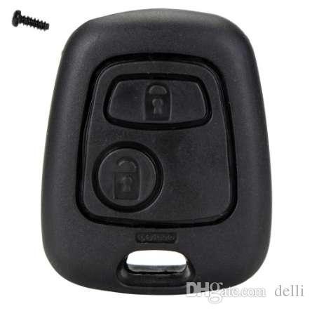2 Botón Tecla remota Clave de automóvil FOB Caja de repuesto Cubierta de cáscara para CITROEN C1 C2 C3 C4 Xsara Picasso Peugeot 107 207 307 D05