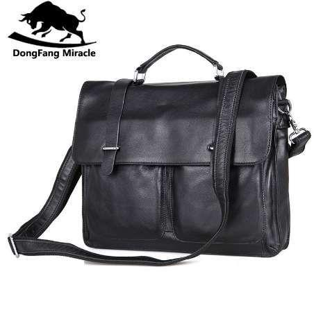 Dongfang Bags Buass Bueen Men Tote Кожаная сумка Бизнес Чудо Vintag Качество Стильный подлинный портфель Человек для сумочек FPCMX