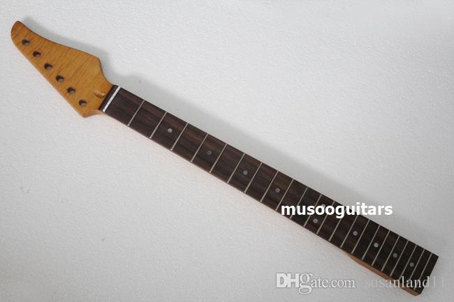 العلامة التجارية الجديدة الكهربائية لهب القيقب الغيتار الرقبة