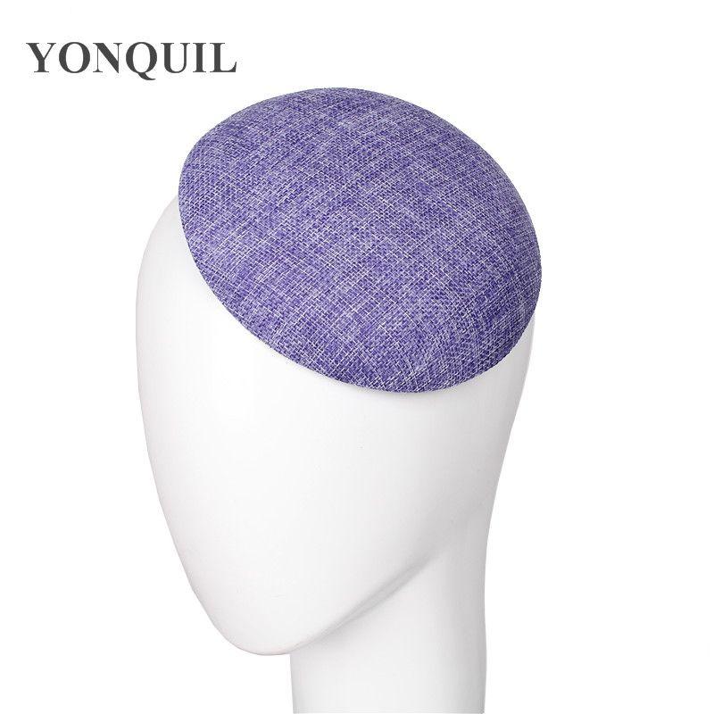 Nuovo 15 CM imitazione sinamay fascinators rotonde basi che fanno per le donne pary matrimonio cappelli di fascinator fai da te molto SYB05 accessori per capelli 10pcs /