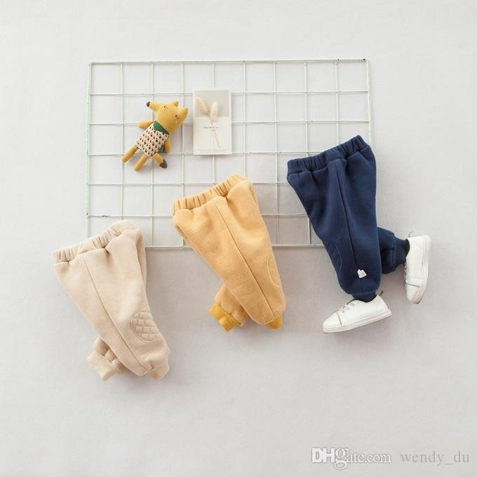 BABY CITY 2018 children's clothes to keep warm winter pants Baby plus sweat pants Neonatal slacks ins