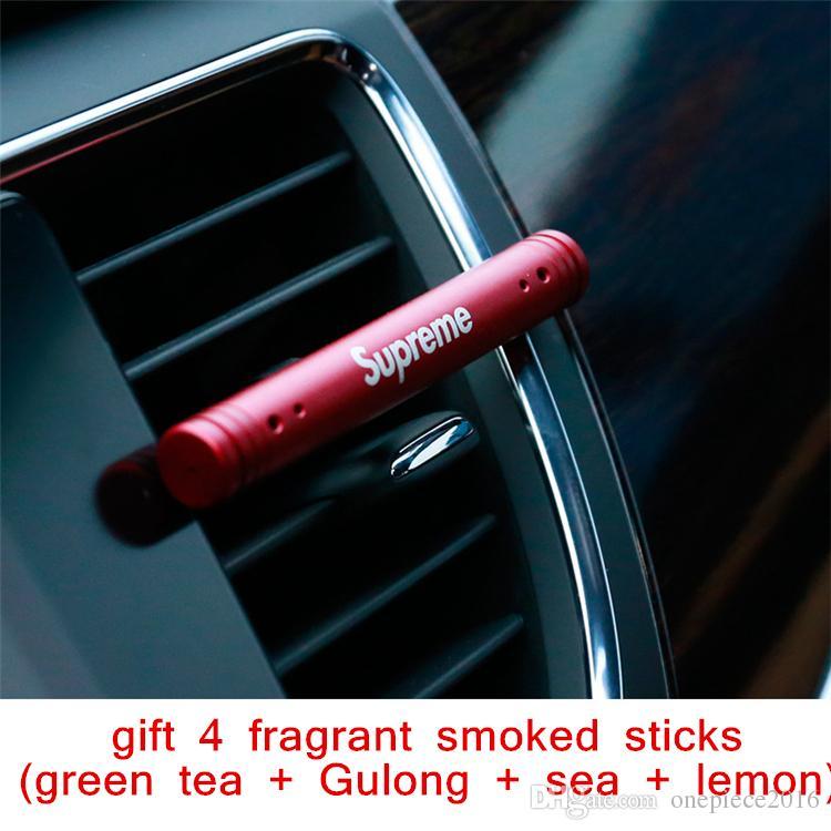 Car Air Freshener Perfume de Metal Decoração Aroma Difusor Purifier Clipe Sólidos Aromaterapia braçadeira Auto respiradouro Fragrance Car-Styling