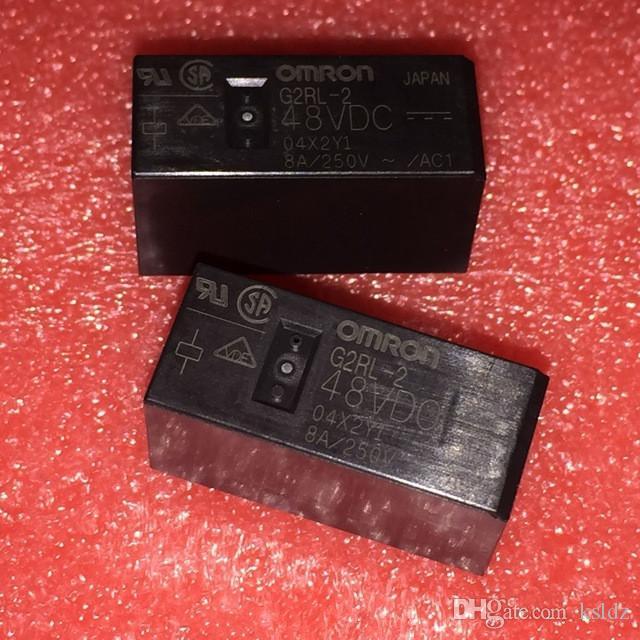 Lotto di trasporto libero (5 pezzi / lottp) 100% Originale Nuovo G2RL-2 G2RL-2-48VDC G2RL-2-48 V G2RL-2-DC48V 8 Pin 8A250VAC 48 VDC Relè di Potenza