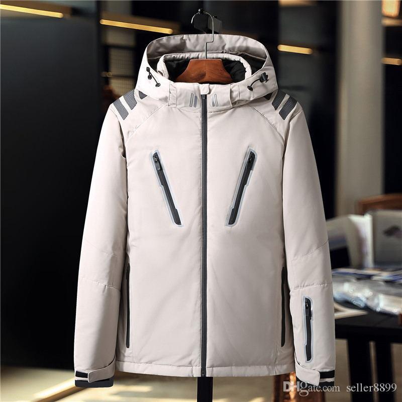 yeni varış ceket artı boyutu Erkekler sıcak Açık parkalar aşağı kış ceket ünlü marka tasarımcısı yüksek kaliteli beyaz ördek erkekleri mens