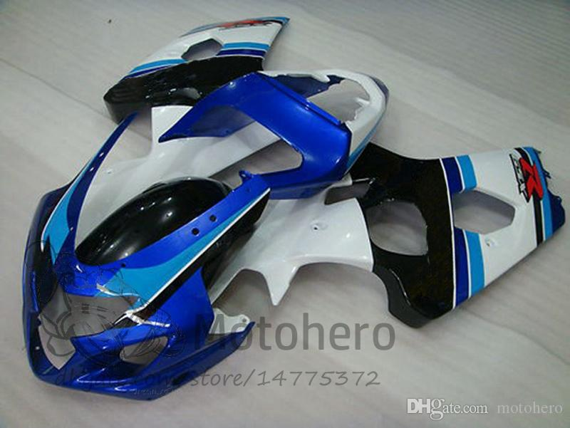 Blue white black K4 K5 Fairing kits FOR SUZUKI GSXR600 GSXR750 2004 2005 ABS GSXR 600 750 04 05 fairings GSX R600 GSX R750 04 05 #92120D2