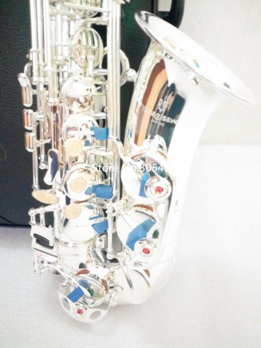 جودة عالية اليابان ألتو ياناجيساوا W-037 إب الفضة مطلي ألتو ياناجيسا ساكسفون الموسيقية المهنية الأداء الحر