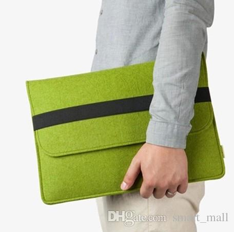 "Laptop-Abdeckungs-Fall für Macbook Pro / Air / Retina Notebook Sleeve Tasche 13"" 15"" Wollfilz Ultrabook-Hülsen-Beutel-Beutel LLFA"