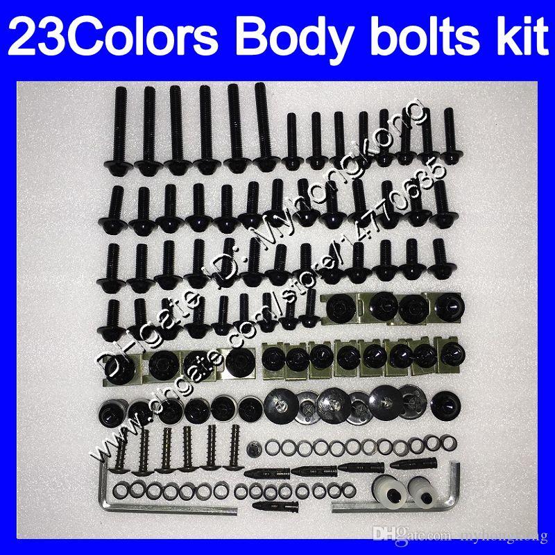 Carénage boulons kit de vis sans fin pour KAWASAKI ZX9R 94 95 96 97 ZX9R 9 R ZX 9R 1994 1995 1996 1997 kit boulon écrou vis écrous corps 25Colors