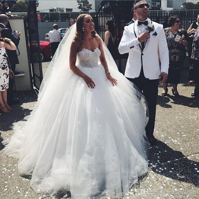 Acheter 2019 Mariage Blanc Pur Robes Princesse