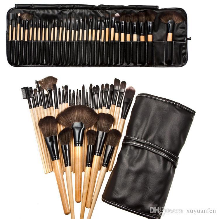 Sac en PU 32Pcs Ensemble Maquillage Professionnel Pinceau Fondation Ombres À Paupières Poudre À Maquillage Outils De Pinceau meilleure qualité peut imprimer logo