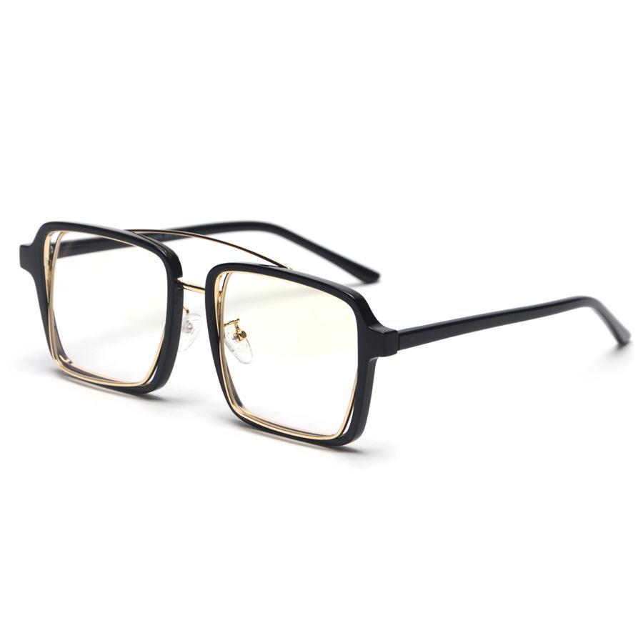 2019 Nueva plaza de Hip Hop Moda Marca Lentes de sol mujeres de los hombres Gafas de sol de señora Flat de gran tamaño con la caja de las lentes NX