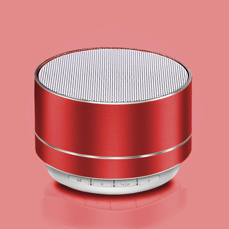 Red A10 Mini Super Bass Stereo Bluetooth Wireless Speaker smartphone