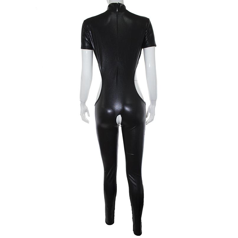 PU For Catsuits Sex Crotchless Leather BDSM Erotic Game Open Woman Bodysuit Breast Slave S&M Couples Fetish Flirting Sex Toys Gmbbu