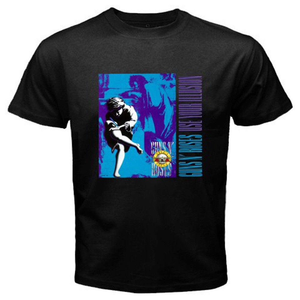 GUNS N ROSES *Use Your Illusion AXL Rose Slash Men's Black T-Shirt Size S to 3XL