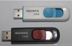 ADATA DashDrive C008 128 GB 256 GB 64 GB ADATA USB Bellek UV100 Mavi Çıkarılabilir Kap USB 2.0 Flash Sürücüler Sticks