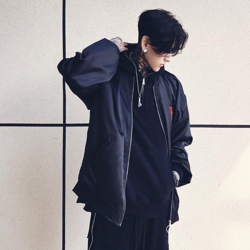 Cool Embroidery Jacket Autumn Spring Ma1 Jacket Bomber Coat Thin Women Men Hip Hop Fashion Streetwear Us size Xs-XL Hot Sale