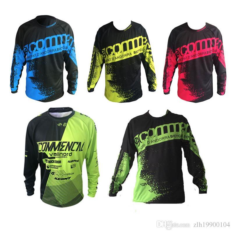 2018 Yeni Stil Pro Team commencal Yokuş Aşağı Jersey Ropa Dağ Bisikleti Motosiklet MTB DH Uzun Kollu MOTO Gömlek