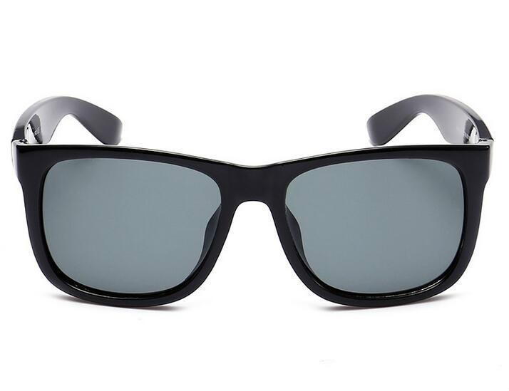 Moda Mężczyźni Kobiety Okulary Marek Okulary przeciwsłoneczne Marka Designer Justin Designer Mirror Gafas De Sol Dams Cool Eyewear z przypadkami Tanie