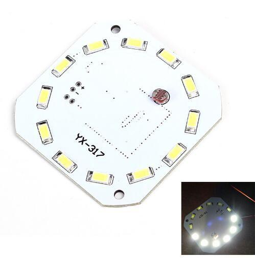 Freies verschiffen! 1 stück Menschlichen Mikrowellensensor LED Board Radar Sensor 7 Watt DC 16-28 V SMD Smart Lichtsteuerung Aktive Sensoren für Intelligente beleuchtung