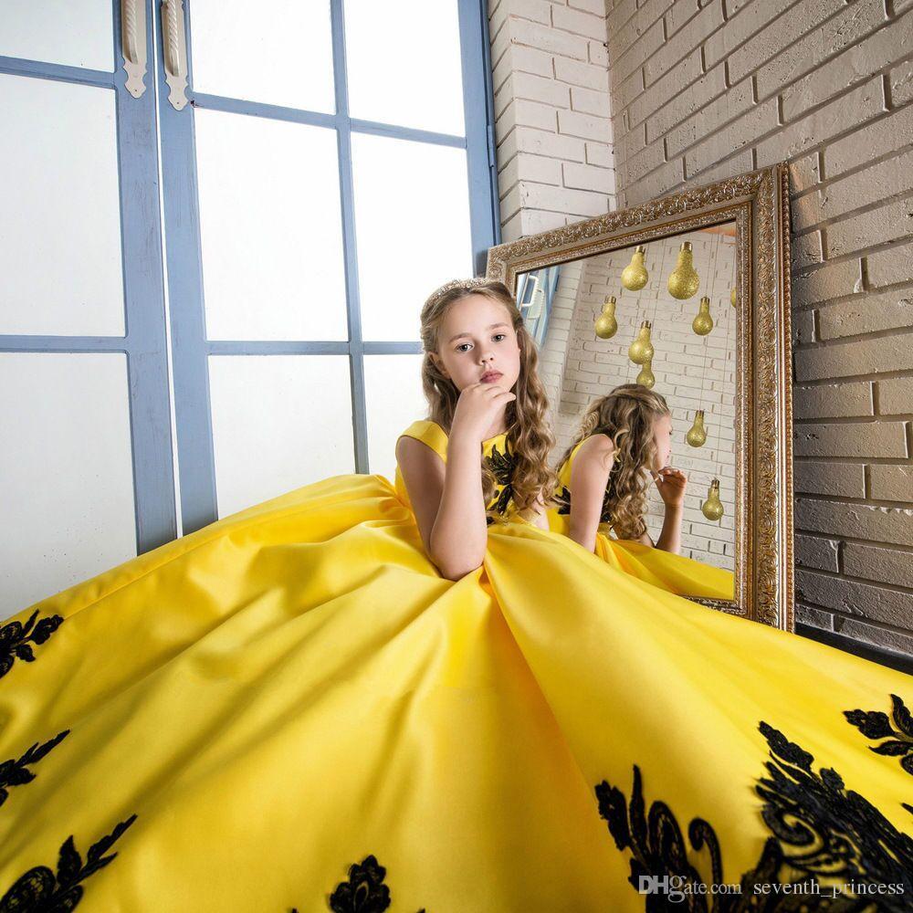 Großhandel Prinzessin Blumen Mädchen Kleidet Für Hochzeits Partei ...