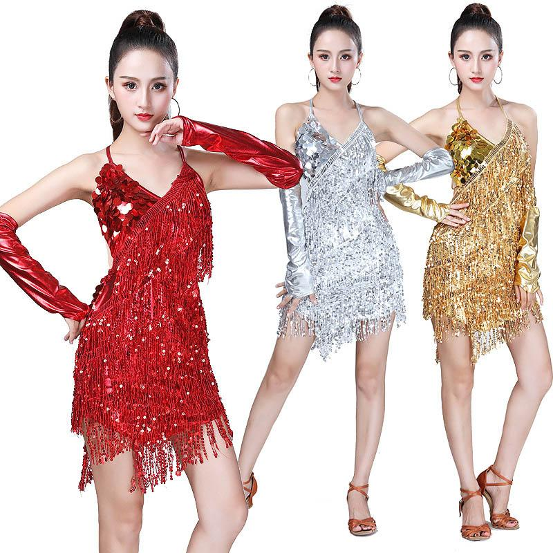 Female Latin Dance Dress Women Black Gold Red Lake Blue For Women Cha Cha/Rumba/Samba/flamengo Ballroom Dance Costume Clothes