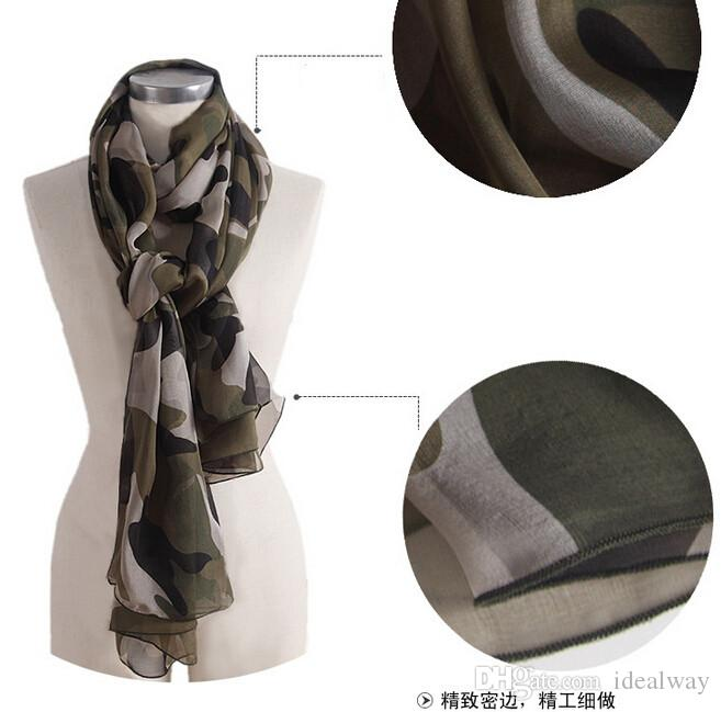 جديد 100٪ الحرير أزياء جميلة جديد يطرح التمويه نمط مستطيل الأوشحة شال الشيفون الهيكل العظمي رئيس مربع الأوشحة شال