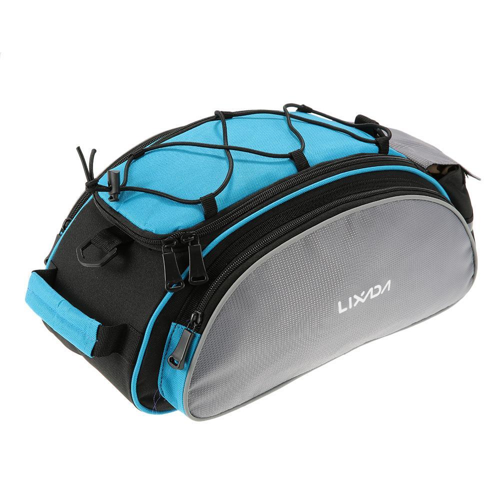 Lixada 13L многофункциональный велосипед седло хвост сиденья сумка водонепроницаемый сумки для хранения Велоспорт задний пакет Паньер аксессуары