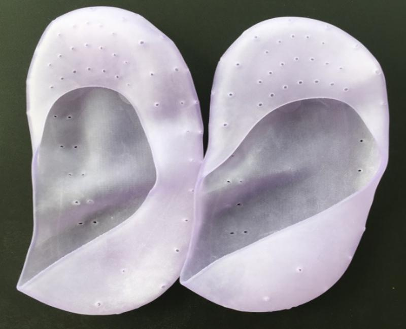 Soft Silicone Gel Moisturizing SPA Exfoliating Sock Pads for Woman Men Heel Dry Hard Cracked Skin Provide moisturizer