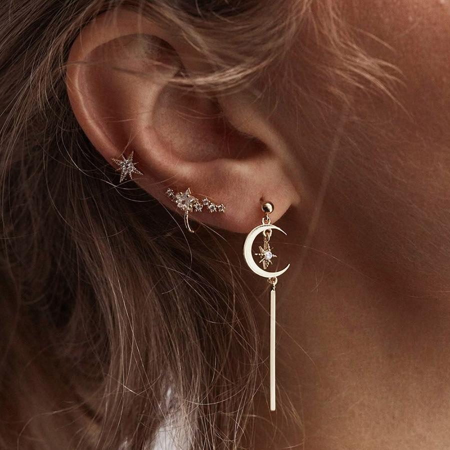 boucle d'oreille femme chaine