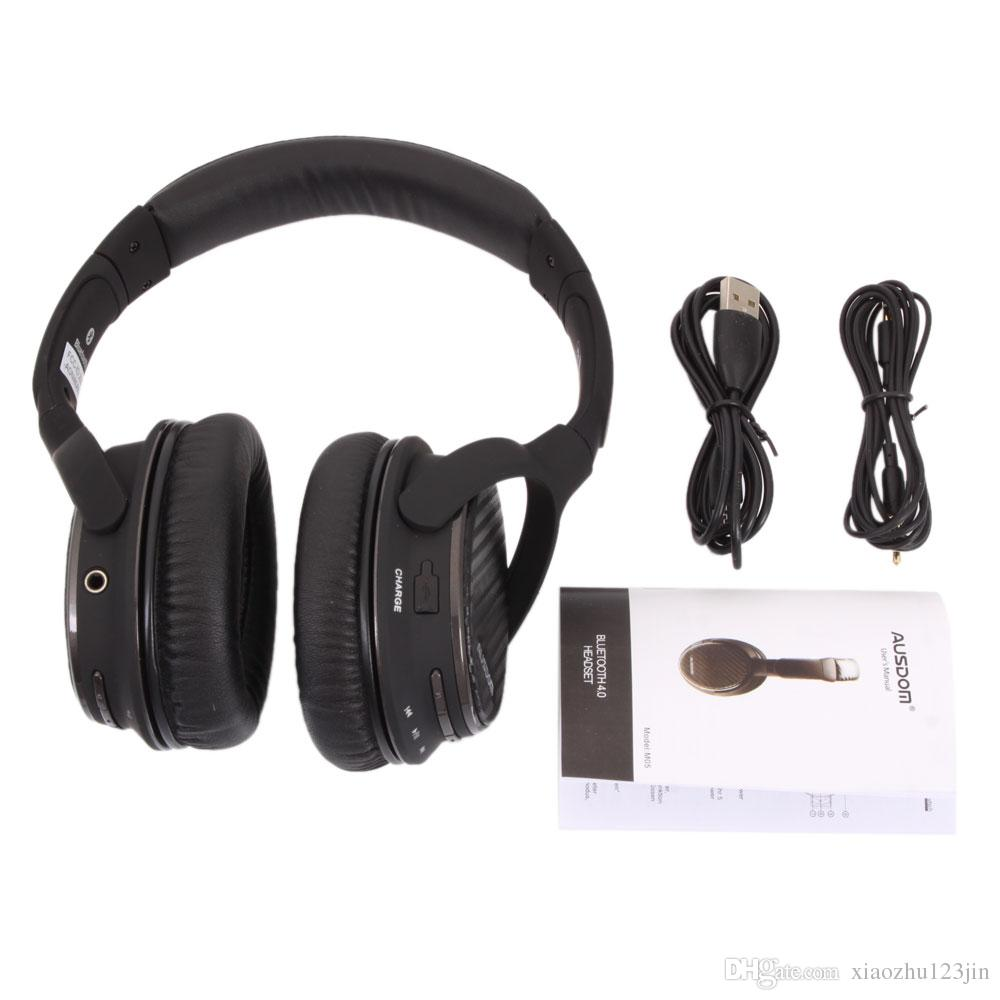Ausdom M05 V4.0 + EDR Bluetooth Stereo Headphone with Microphone Hands-free Calling Function Blue