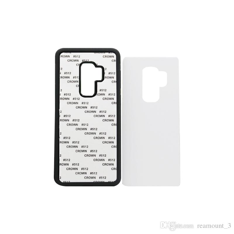 50 pcs Wholesale For Samsung S9 TPU rubber 2D sublimation case for Samsung S9 S9 plus case with aluminium metal sheet