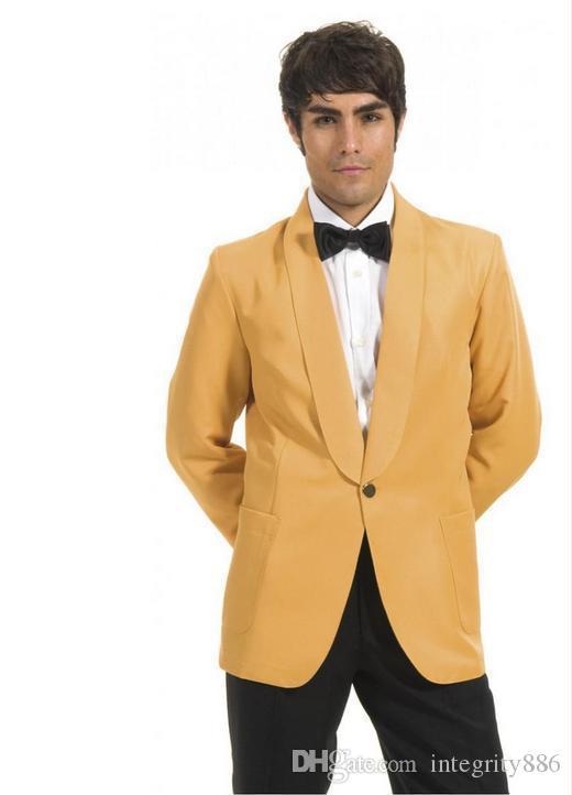 Nouveau Mode Marié Smokings Châle Revers Un Bouton Excellents Garçons D'honneur Blazer Hommes Formelle Costume Costume De Bal De Soirée (Veste + Pantalon + Noeuds Noeud) NO: 185