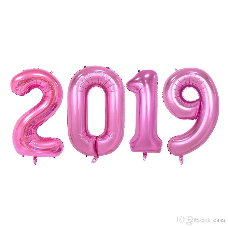 Satin Al 40 Inc Boyama By Numbers 2019 Folyo Balonlar Mutlu Yeni
