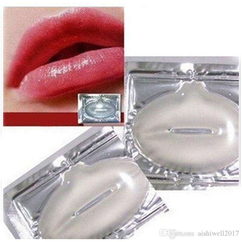 Beauty Women Skin Crystal Collagen Lip Mask Care Pads Moisture Essence Anti Ageing Wrinkle Patch Pad Gel