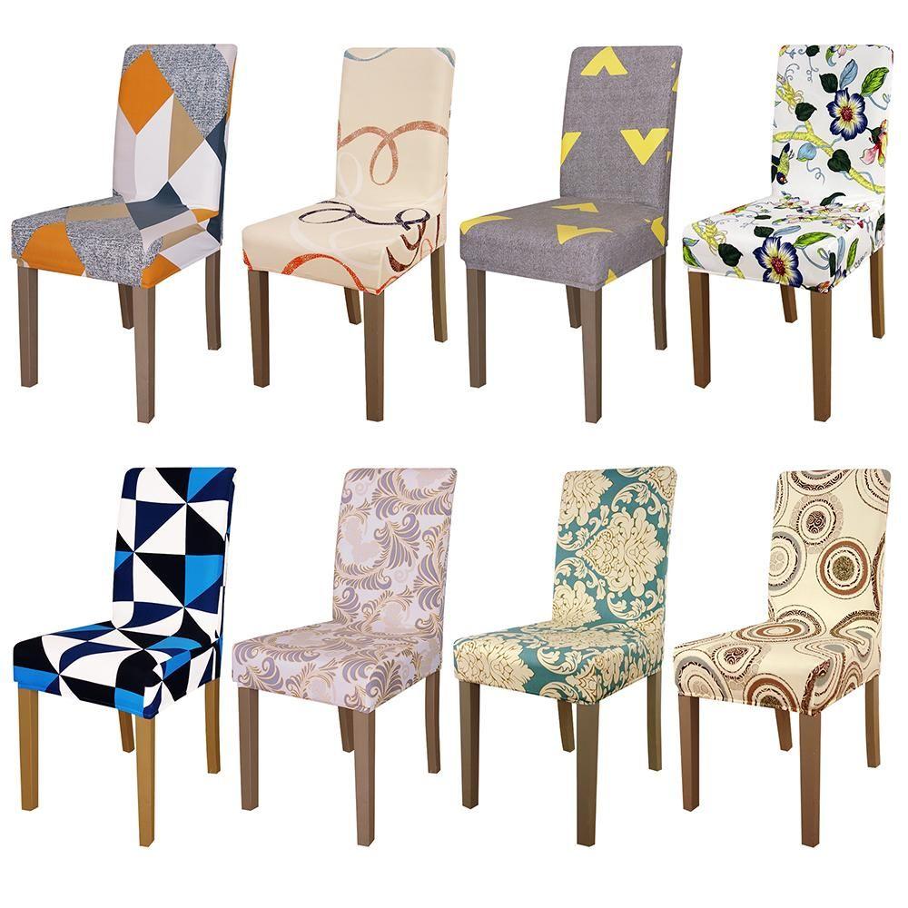 Impresión de tamaño universal Cubierta de la silla asiento cubre fundas Protector Asiento Funda Hotel banquete comedor Navidad decoración del hogar