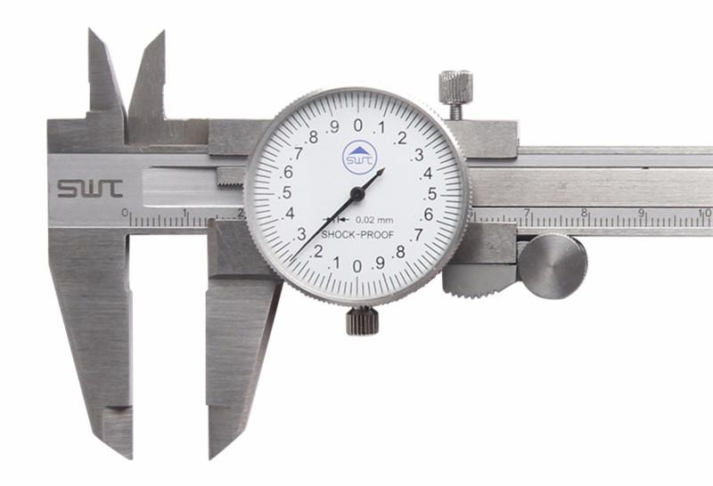 150mm 0.02mm Metric Measurement Dial Caliper Vernier Micrometer Stainless Steel