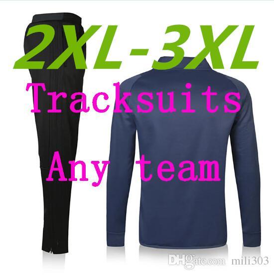 Meilleure version Personnaliser 2xL-3XL Soccer Veste de Soccer TrackSuit Lettre d'impression Sweat Sweat-shirt Chandal Training Cuisson