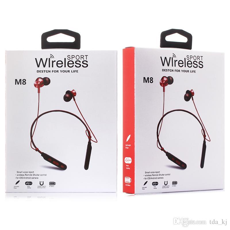 M8 fone de ouvido sem fio bluetooth apoio magnético esporte super bass fone de ouvido para iphone xr x max max ios android fone de ouvido