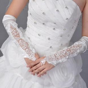 Dantel Gelin Eldiven Düğün Eldiven Aksesuarları Resmi Uzun Tasarım Lucy Anlamına Gelir Ivory Kırmızı Siyah Sonbahar Madeni Pul Boncuk