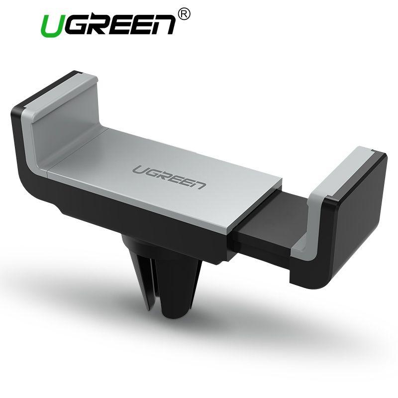 Ugreen Car Phone Holder para o telefone inteligente Phone Holder Suporte móvel 360 Rotação Air Vent Mount Stand Holder para Samsung