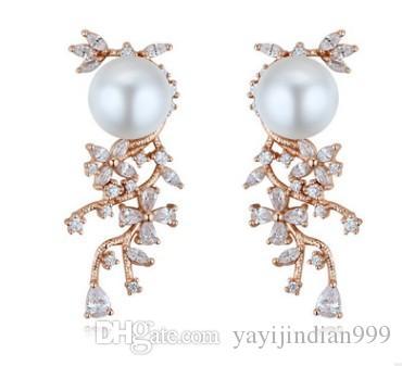 chaming 925 brincos da senhora de cisne de diamante de pérola de cristal de zircão prata (12) xcx