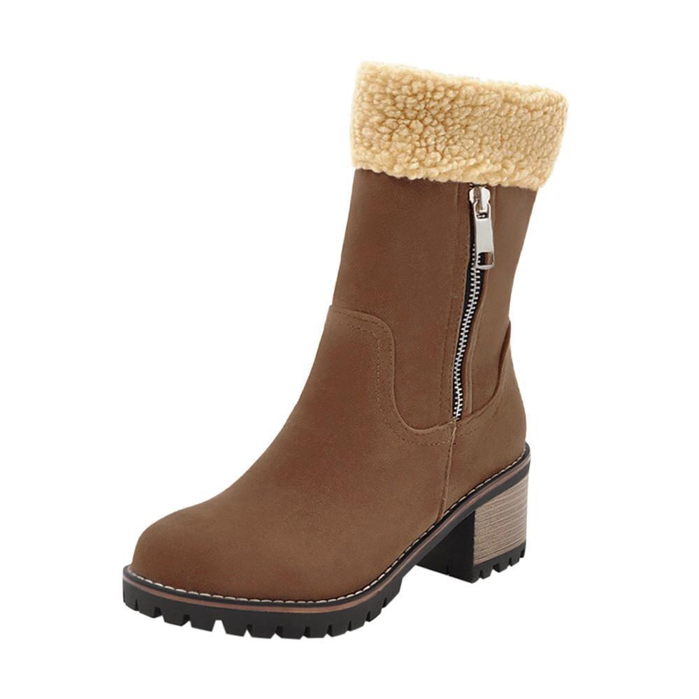 stivaletti alla caviglia per donna 2018 Scarpe invernali da donna da donna Stivali caldi floccati Martin Stivali da neve Short Bootie zapatos mujer # g8