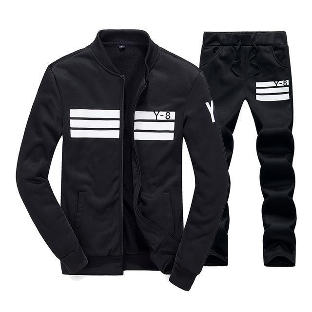 New Track Suits Men Set Thicken Fleece Hoodies +Pants Suit Spring Sweatshirt Sportswear Set Male Hoodie Sporting Suits
