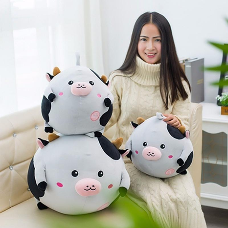 feather cotton filled soft and comfortable cow plush toy