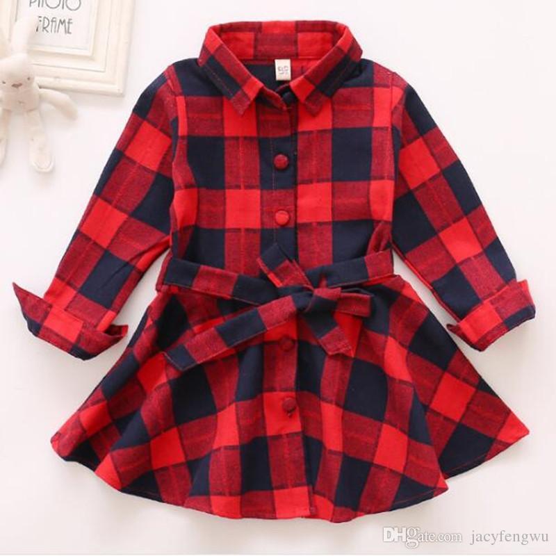Boutique de filles Tenues de printemps habillées Filles papillon jupes grille Vêtements enfants T-shirts manches longues enfants Chemises CQZ159