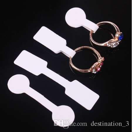 100шт/мешок ювелирных изделий ценник квадрат бумага ожерелье кольцо ювелирные изделия ценники теги дисплей бумага ценники 60x12mm 50x13mm