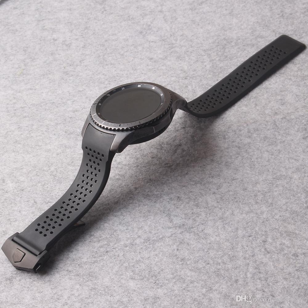 Para samsung gear s3 fronteira 22mm cinta pulseira de relógio com ferramentas gratuitas melhores acessórios de qualidade furos pulseira dobrável fivela de borracha
